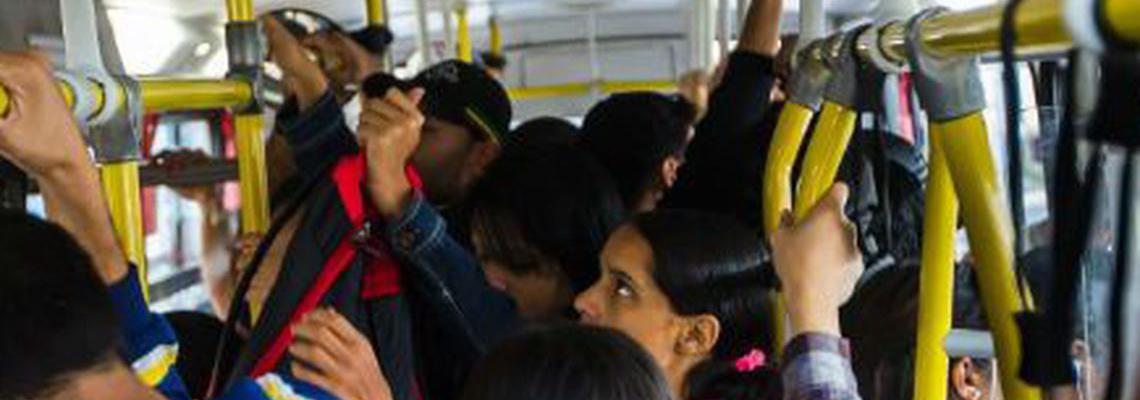 Maioria das mulheres não se sentem seguras no transporte coletivo