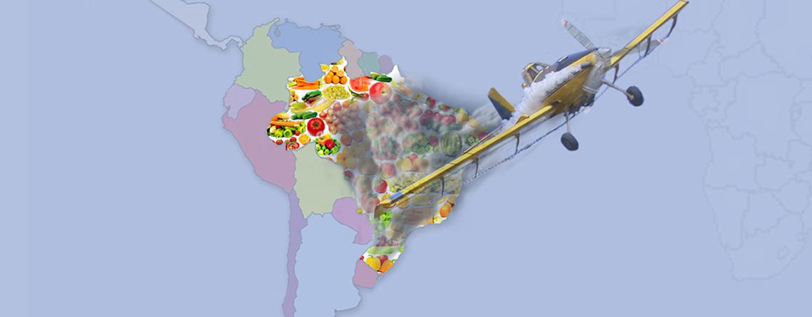 Mapa do envenenamento de alimentos brasileiros lançado na Europa