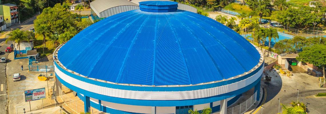 Com investimento de R$ 2 milhões, ginásio de esportes de Cotia ganha nova vida