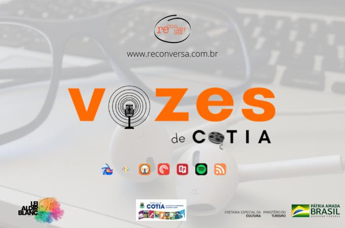 Podcast de poesias, contos e prosas do projeto 'Vozes de Cotia' estreia no dia 8/03