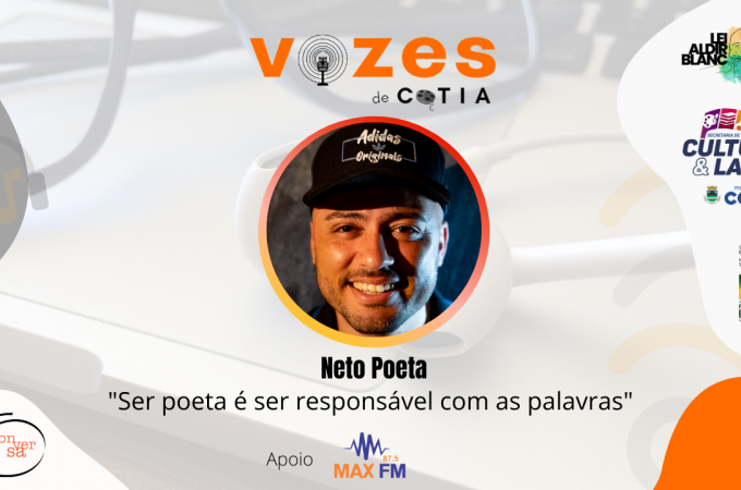 """Neto Poeta: """"ser poeta é ser responsável com as palavras"""""""